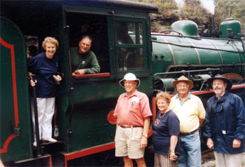 Members visiting the Zig Zag Railway